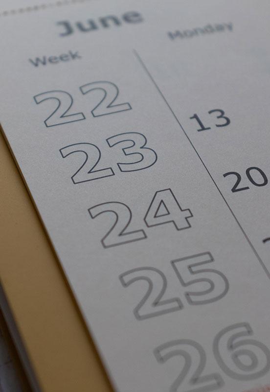 June calendar. Photo by Behnam Norouzi on Unsplash
